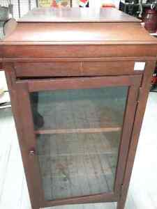 Victorla cabinet, antique tools, tins, furniture and 600 booths