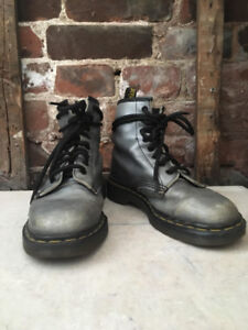 Women's Size 8 Made In England Silver/Grey Dr. Marten's