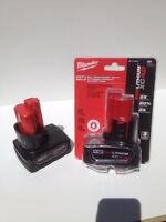 Batterie Millwaukee Red Lithium Battery pack 12V 4.0amp