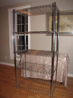 Stainless steel commercial grade sturdy shelving unit