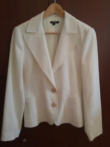 White summer jacket size 9/10 Veste d'été