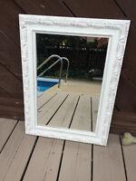 White Ornate-Framed Mirror