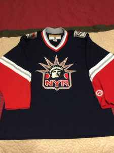 KOHO New York Rangers Lady Liberty NHL Home Blue Hockey Jersey
