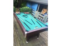 Pool/snooker table 6x3 good quality wooden table