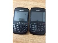 Blackberry 8520 with charger.