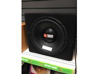JBL 1000 watts sub - car audio boxed