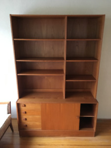 Mid century teak book case/storage