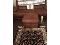 3 seater couch and chair and foot stool