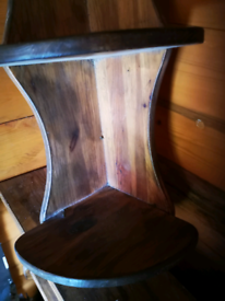 Rustic corner wood shelf 3 tier