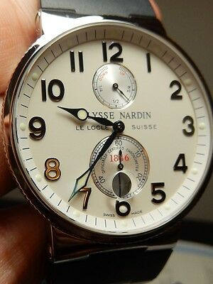 Ulysse Nardin Maxi Marine Chronometer with Cert. 99% LN MINTY Discontinued 41mm