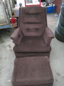Rocker chair & foot stool