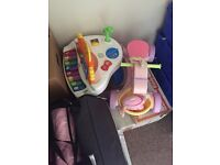 Fisher Price Piano, Horse Ride On, Pushchair & Singing Chair