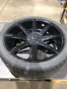 22x10 Status Wheels wrapped with 285/35R22 Victra Z4S tires