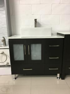 "Pine 36"" Bathroom Vanity with OverMount Sink"