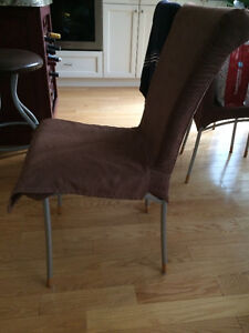 UNIQUE, COMFORTABLE,  4  CHAIRS WITH NEW COVER!