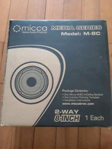 Micca in wall / ceiling speakers