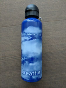 New breathe water bottle