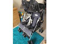 Maclaren twin traveller double pushchair £60