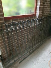 Metal railings fence x3