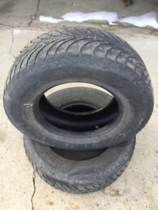 (2) Goodyear Ultra Grip 265 70 17