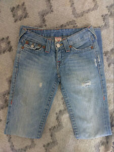 Size 24 True Religion Jeans (TWO PAIRS)