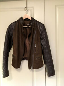 High Quality Chic Woman's Italian Leather Jacket XS