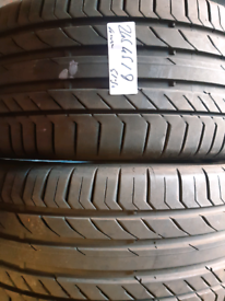 245 45 19 part worn tyres matching continentals used tires