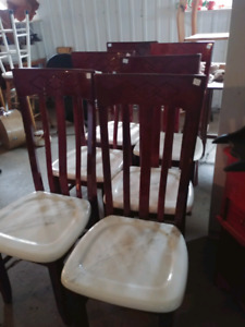 6 marble seat chairs