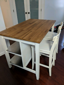 Ikea Island/Table with bar stools