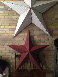 Antique barn stars (not manufactured or mass produced)