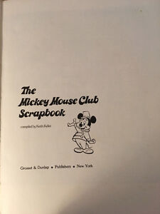 Mickey Mouse Club Scrapbook Collectible 1975 Keith Keller West Island Greater Montréal image 2