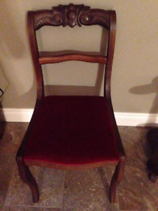 Antique accent dining chair