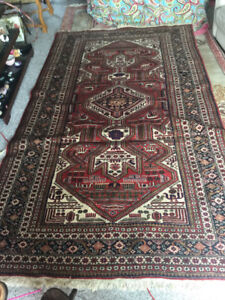 Seriously need this gone..vintage hand woven area carpet........