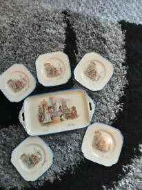 Parrott & Co Coronet Ware Nell Gwyn sandwich set