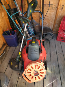 Electric Lawn mower and weed trimmer