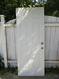 WHITE METAL INTERIOR / EXTERIOR DOOR - RENOVATION SPECIAL