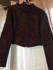 Lechateau maroon leather jacket London Ontario image 4
