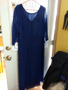 Royal Blue mother of the Bride dress