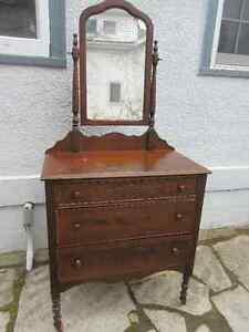 Antique Dresser with Mirror - made in Owen Sound