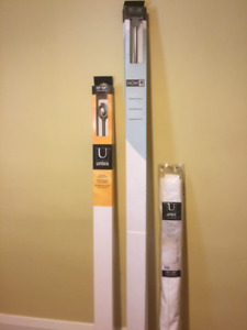 New Umbra Curtain Rods And Blind For Sale
