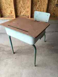 Antique classroom desk and chair
