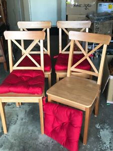 MOVING! - NEW PRICE - 4 IKEA CHAIRS FOR SALE