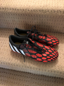 Adidas. Predator Absolado cleats. red/black. Mens 9.5