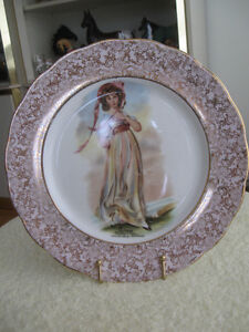 10.5-IN.GORGEOUS DECORATIVE VINTAGE GILDED CHINA PLATE