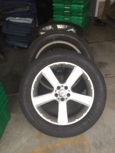 "Mercedes Original 20"" rims with Michelin Tires."