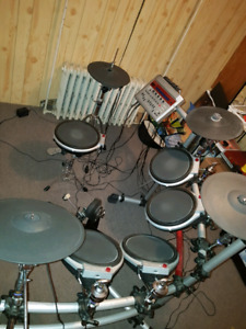 Electric drum kit.