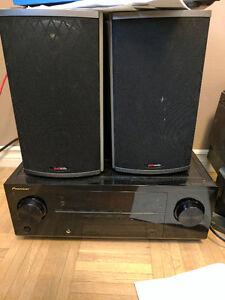 2 Polk RTi4 speakers & Pioneer Receiver, $250 OBO