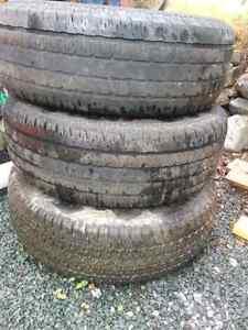 3, 265 70 R16 tires