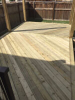 Professional deck and fence builder
