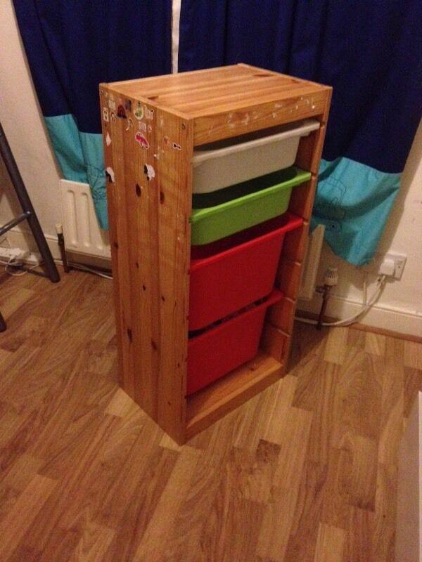 Ikea trofast storage unit with 4 drawers in sydenham for Ikea storage bin unit